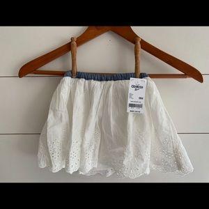 NWT OshKosh White Lace Skirt Size 18 months